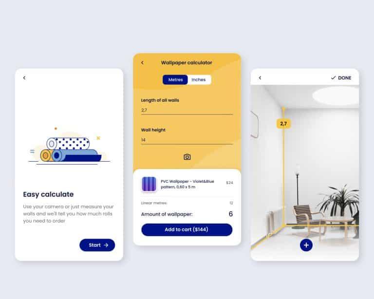 Wallpaper calculator for e-Commerce